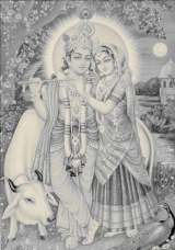 Krishna und Radha