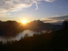Sonnenuntergang beim Felsentor